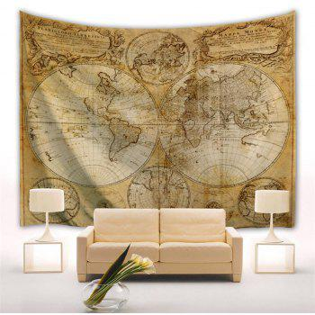 Multifaceted World Map 1746 3D  Home Wall Hanging Tapestry for Decoration - multicolor A W200CMXL180CM