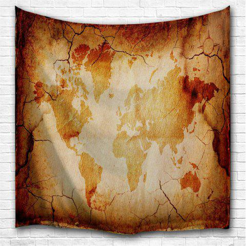 Retro Map 3D Printing Home Wall Hanging Tapestry for Decoration - multicolor A W153CMXL130CM