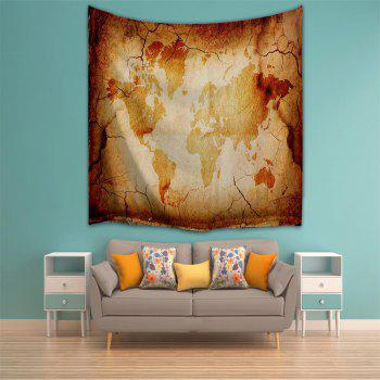 Retro Map 3D Printing Home Wall Hanging Tapestry for Decoration - multicolor A W153CMXL102CM