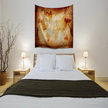 Retro Map 3D Printing Home Wall Hanging Tapestry for Decoration - multicolor A W230CMXL180CM