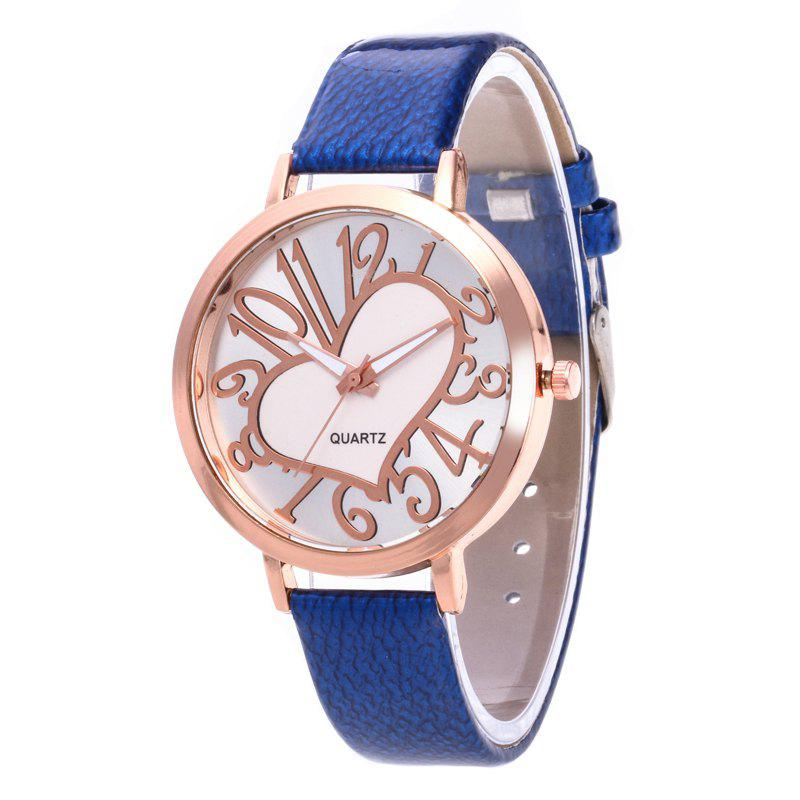 Love Arabic Numerals Dial Women Watch - ROYAL BLUE