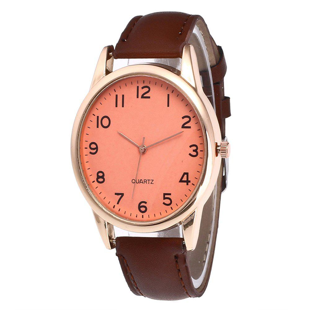 Fashionable Simple Man Leather Watch - COFFEE