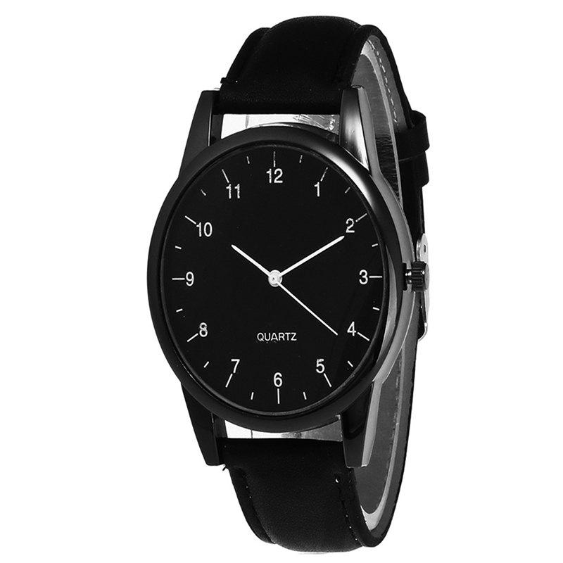 Stylish Simple Men  Watch - BLACK