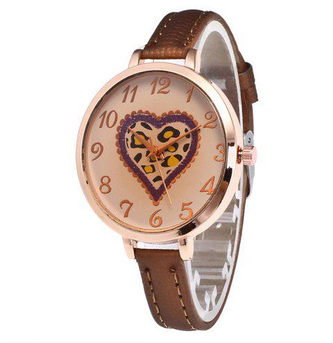 Love Tea Color Dial Women Watch - COFFEE