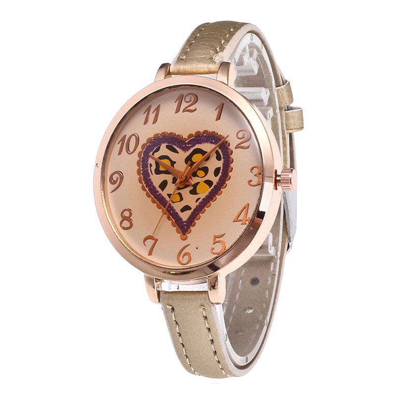 Love Tea Color Dial Women Watch - CORNSILK