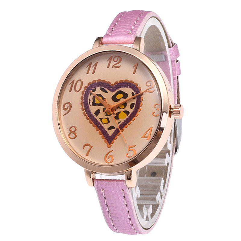 Love Tea Color Dial Women Watch - PINK