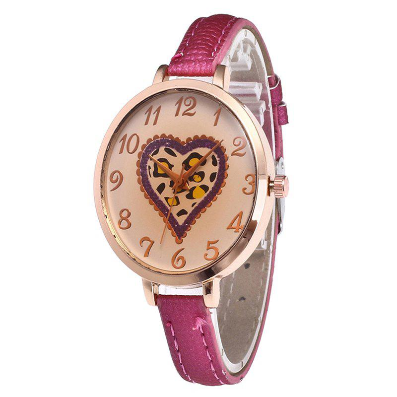 Love Tea Color Dial Women Watch - ROSE RED