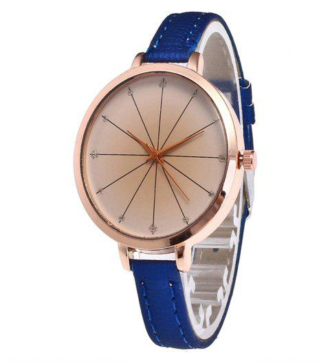 Tea Color Dial Women Quartz Watch - ROYAL BLUE