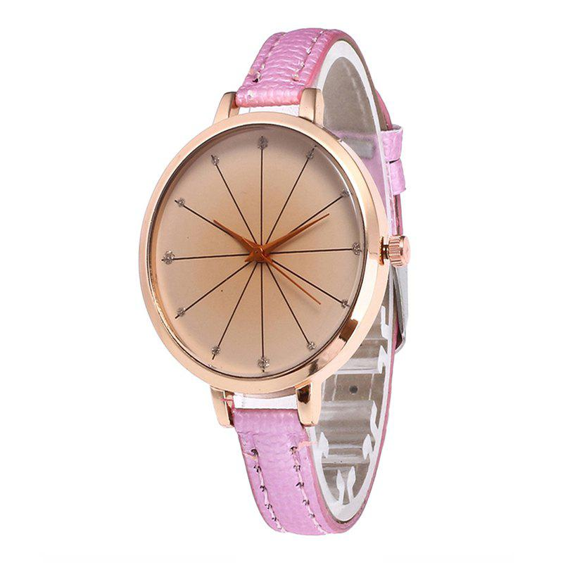 Tea Color Dial Women Quartz Watch - PINK