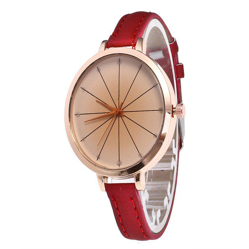 Tea Color Dial Women Quartz Watch - CHILLI PEPPER