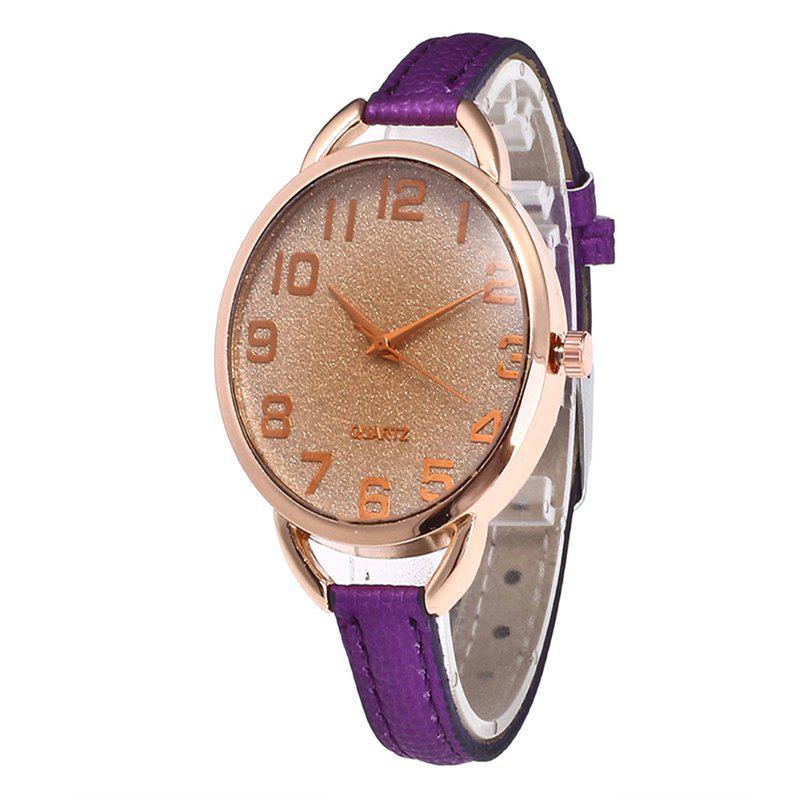 Simple Digital Scale Quartz Watch - PURPLE