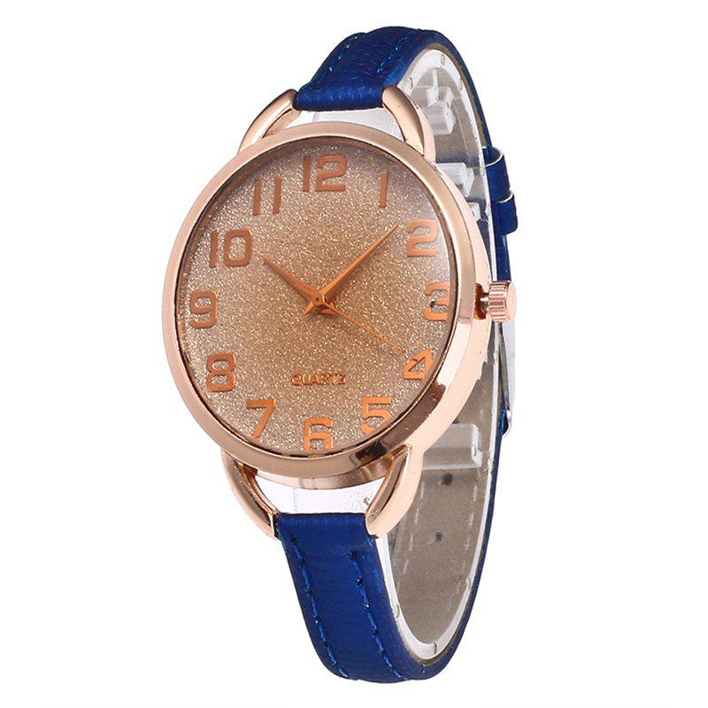 Simple Digital Scale Quartz Watch - ROYAL BLUE