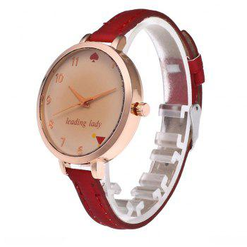 Tawny Alphabet Leather Watch - CHILLI PEPPER