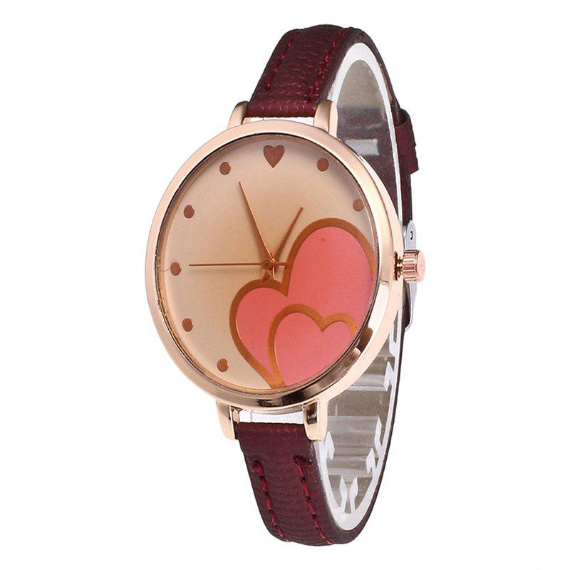 Love Tea Women Quartz Watch - RED WINE