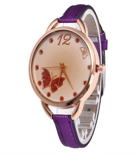 Butterfly Tea Women Quartz Watch - PURPLE