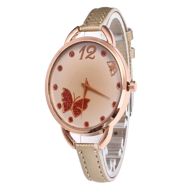 Butterfly Tea Women Quartz Watch - CORNSILK
