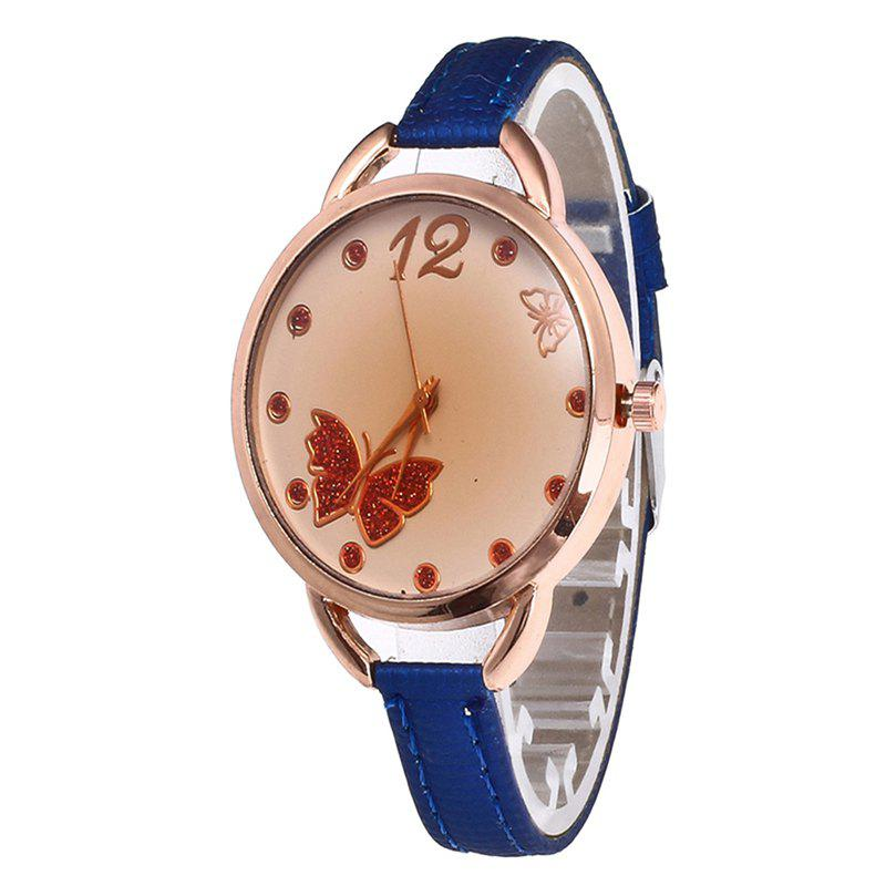 Butterfly Tea Women Quartz Watch - ROYAL BLUE
