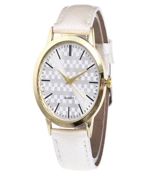 Fashion Alloy Quartz Watch - WHITE