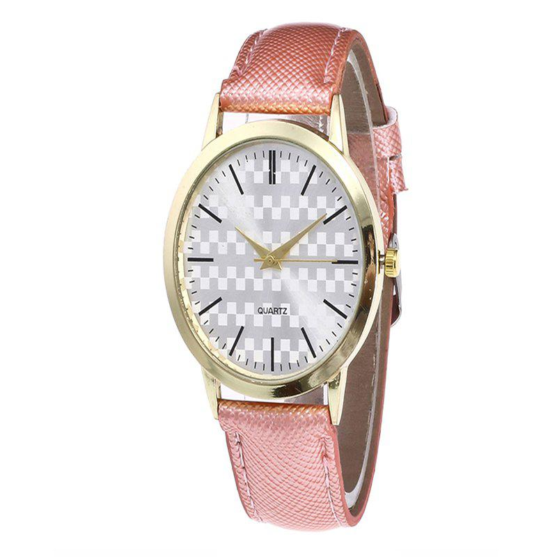 Fashion Alloy Quartz Watch - PINK