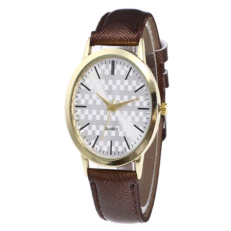 Fashion Alloy Quartz Watch - COFFEE