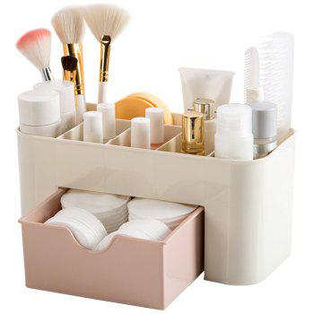 Plain Six-Frame Drawer Makeup Box Desktop Finishing - PINK 22X10.5X10.5CM