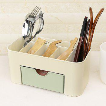 Plain Six-Frame Drawer Makeup Box Desktop Finishing - ALGAE GREEN 22X10.5X10.5CM