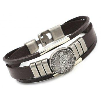 Simple Leather Bracelet 01291 Ornaments Gifts - BROWN