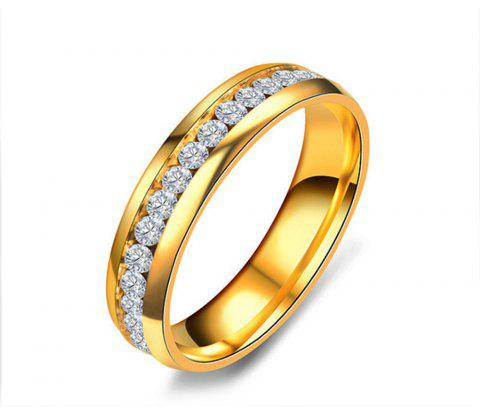 Women's Steel Couples Gold-Plated Rings 0116 Personalized Gifts Jewelry - GOLD US SIZE 8