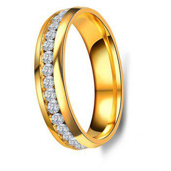 Women's Steel Couples Gold-Plated Rings 0116 Personalized Gifts Jewelry - GOLD US SIZE 7