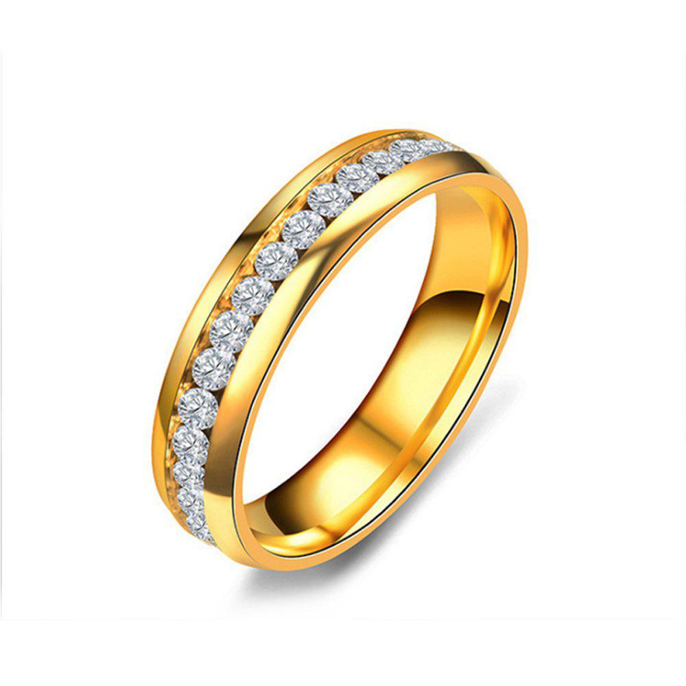 Women's Steel Couples Gold-Plated Rings 0116 Personalized Gifts Jewelry - GOLD US SIZE 9