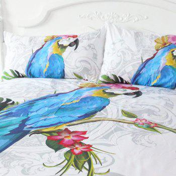 Macaw Art Bedding  Duvet Cover Set Digital Print 3pcs - multicolor KING