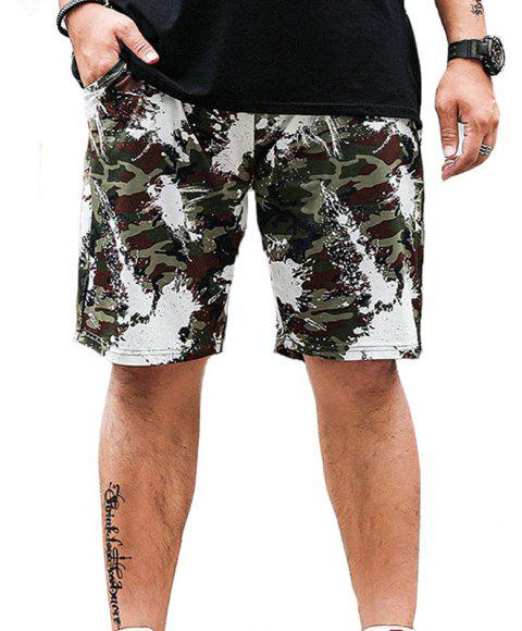 Summer Fashion Leisure Camouflage Large Size Men's Shorts - ARMY GREEN 7XL