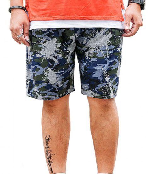 Summer Fashion Leisure Camouflage Large Size Men's Shorts - BLUE GRAY 5XL