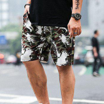 Summer Fashion Leisure Camouflage Large Size Men's Shorts - ARMY GREEN 8XL