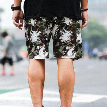 Summer Fashion Leisure Camouflage Large Size Men's Shorts - ARMY GREEN 6XL