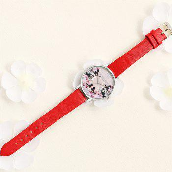 Lvpai P84-3 New Fashion Women's Quartz Watch - RED