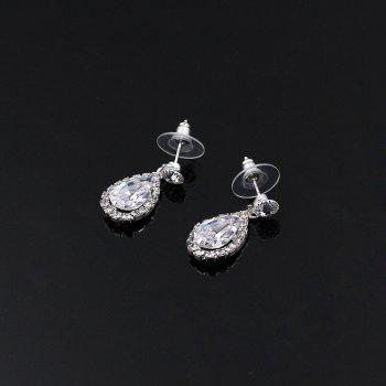 New Personal Luxury Water Dropping Rhinestone Necklace Set - SILVER