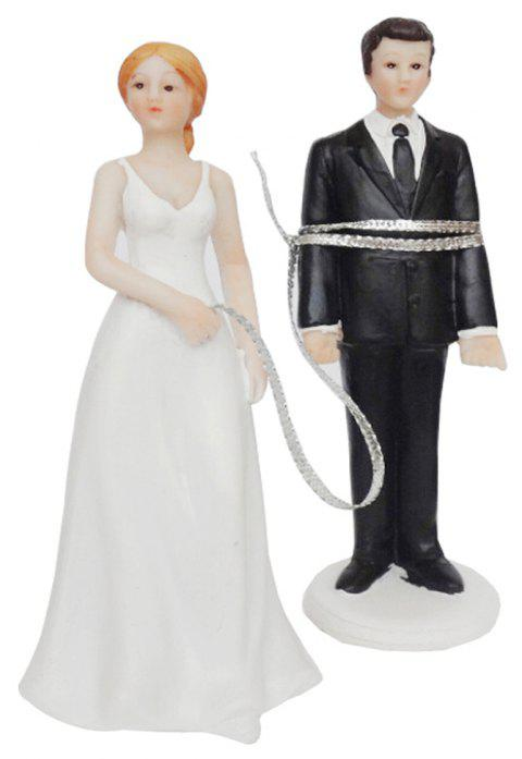 Bride And Roped Groom Decoration - multicolor