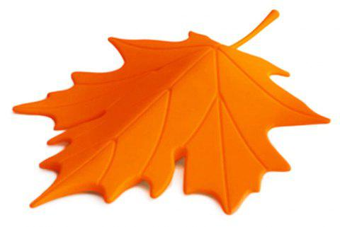 Maple Shape Free Punching Door Stop - ORANGE