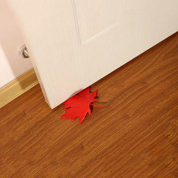 Maple Shape Free Punching Door Stop - RED