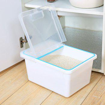 Plastic Flip Rice Bucket with Sealing Ring - WHITE