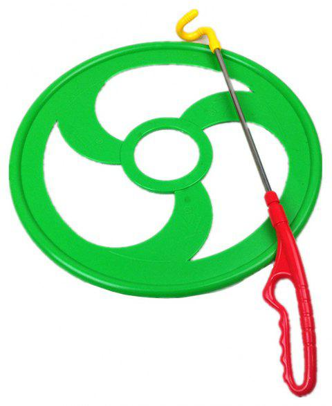 Children Outdoor Sports Hoop Rolling Training Equipment Fitness Hot Wheels - GREEN DIAMETER