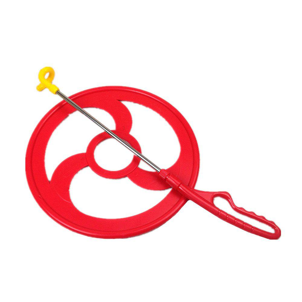 Children Outdoor Sports Hoop Rolling Training Equipment Fitness Hot Wheels - RED DIAMETER