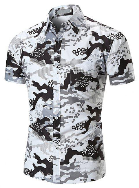 New  Style  Men's  Shirts - WHITE L