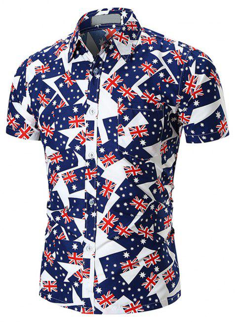 New  Style  Men's  Shirts - multicolor O XL