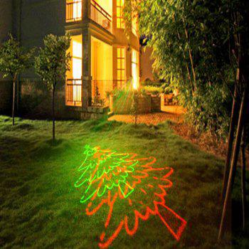 Christmas Theme Patterns Outdoor Waterproof Garden Light  With RF Remote Control - BLACK UK PLUG