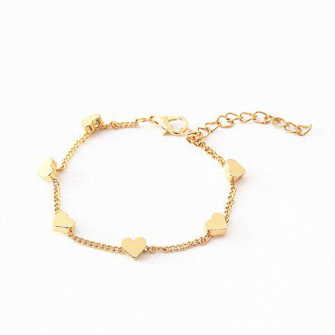 Multiple Heart-Shaped Simple and Meticulous Bracelet - GOLD