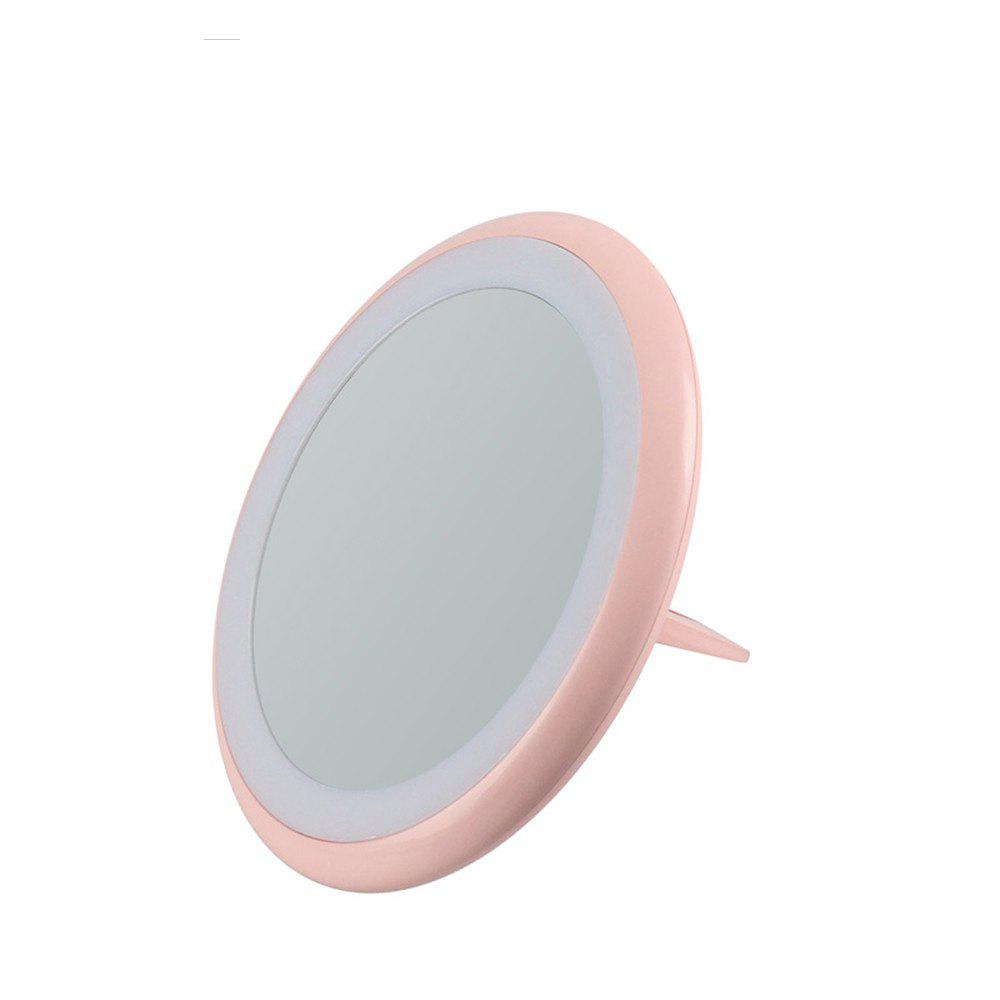 Lamp Fold Portable LED Cosmetic Mirror - PINK