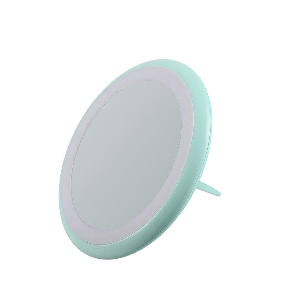 Lamp Fold Portable LED Cosmetic Mirror - BLUE GREEN