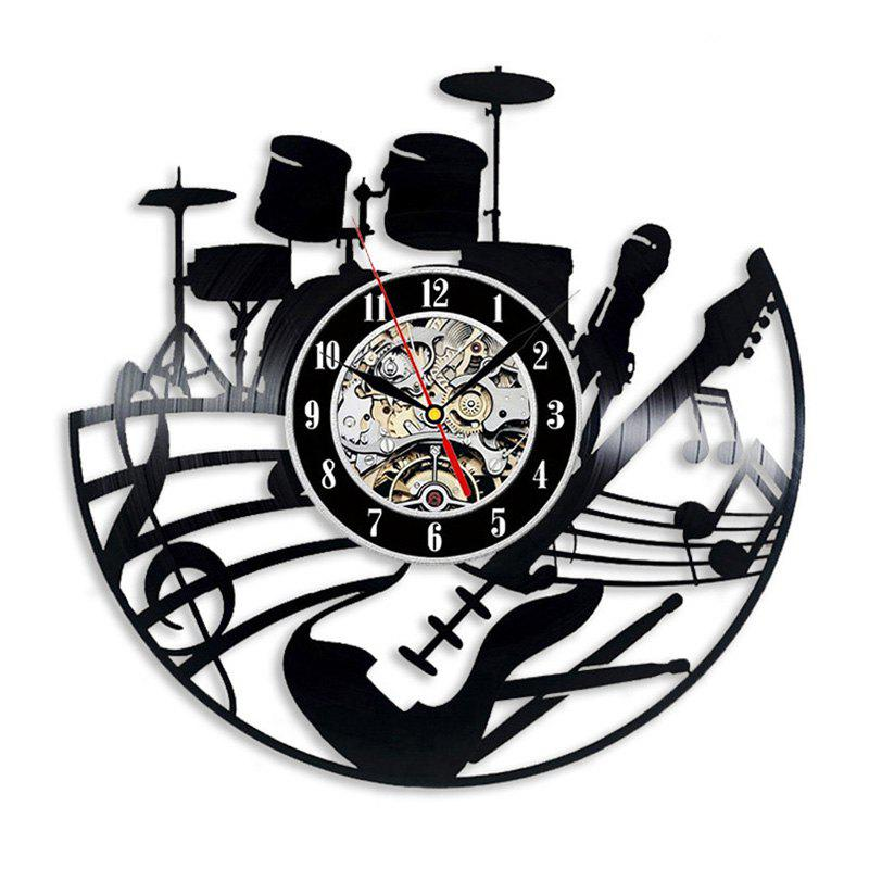 Vinyl Wall Clock Art Present Home Decoration - BLACK WITHOUT BATTERY